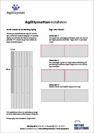Installationsanvisning Agility Mat